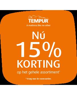 Tempur 15% korting