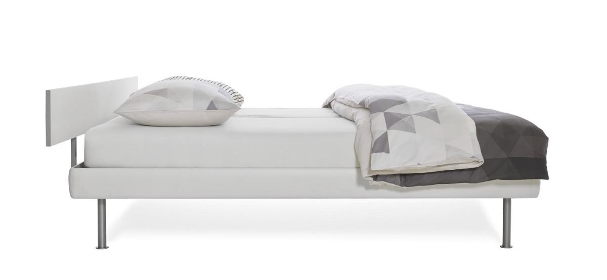 Auping Match aluminium, straight hoofdbord, rechte poten