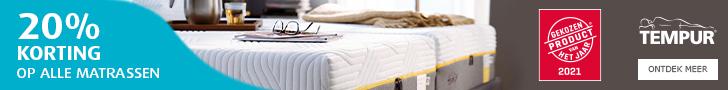 Tempur aanbieding 20% korting op matrassen